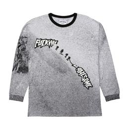 FA Snowmen Ringer L/S T-Shirt Black