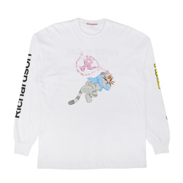 Richardson Fritz The Cat Smoked Out L/S White