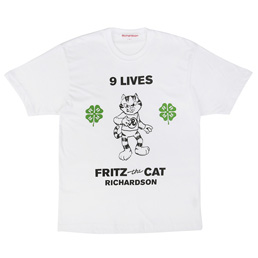 Richardson Fritz The Cat 9 Lives T-Shirt White