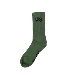 Richardson Glyph Crew Socks Army Green