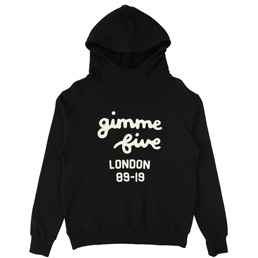 Gimme 5 Chain Stitch Hoodie Black