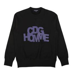 CDG Homme Crew Sweater Black