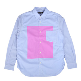 CDG Homme Cotton B.D Shirt Blue/Pink