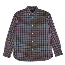CDG Homme Cotton Plaid Shirt Navy/Brown/Red
