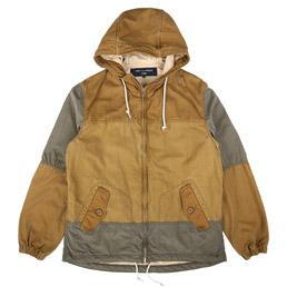 CDG Homme Panelled Zip Jacket Brown/Khaki