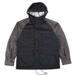 CDG Homme 2 Tone Nylon Jacket Black/Grey