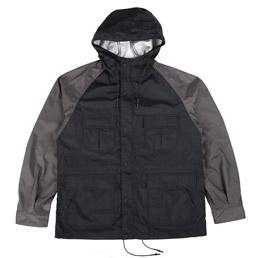 CDG Homme 2 Tone Nylon Jacket Black/Grey