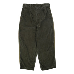 CDG Homme Wide Corduroy Cropped Pant Olive