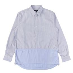 CDG Homme Cotton Twill Stripe Shirt Wht/Sax