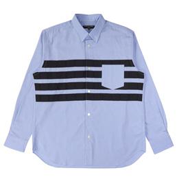 CDG Homme Cotton Oxford Pattern Shirt Sax