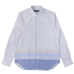 CDG Homme Cotton Stripe Mix Shirt White