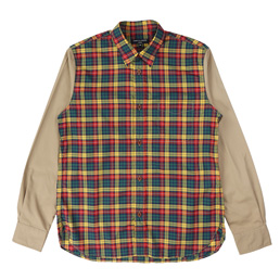 CDG Homme Check Typewriter Shirt Red