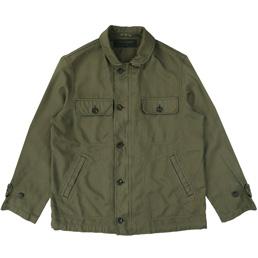 CDG Homme Serge Garment Dyed Jacket Khaki