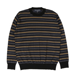 CDG Homme Horizontal Stripe Sweater Black