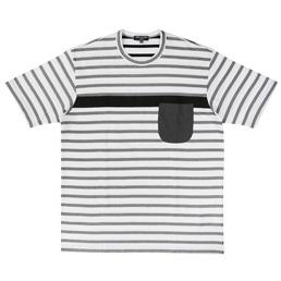 CDG Homme Horizontal Stripe T-Shirt Blk/Wht