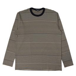 CDG Homme Horizontal Stripe L/S T-Shirt Beige