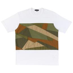 CDG Homme Multi Fabric T-Shirt White