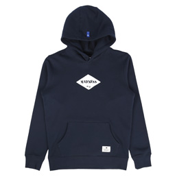 Madness Print Hoodie Navy