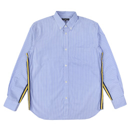 CDGH Cotton Check LS Shirt - Sax/White