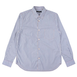 CDGH Cotton Stripe LS Shirt - Gry/Wh/BlxBlue