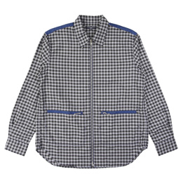 CDGH Cotton Twill Check x Satin Shirt - Blue/White