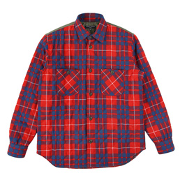 CDGH Cotton Check QuiltxNylon Shirt - Rd/Bl/WhxKha