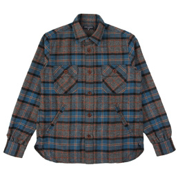 CDGH Wool Tartan Check LS Shirt - Blue/Gray