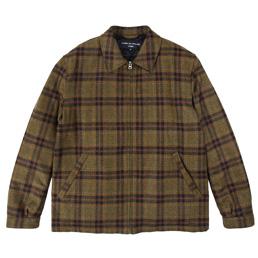 CDGH Wool Cashmere Tweed Jacket - Khaki/Nvy/Brw