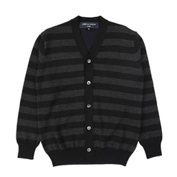 CDGH Wool Jersey x half Cardigan Stitch - Black
