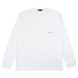CDGH Cotton Jersey Garment Print LS T-Shirt-White