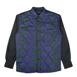 CDG Homme Check Quilted Shirt Navy/ Green