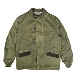 CDG Homme Shawl Collar Jacket Khaki