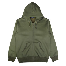 CDG Homme Full Zip Hooded Sweatshirt Khaki