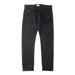 Edwin ED-55 White Listed Black Denim Relaxed