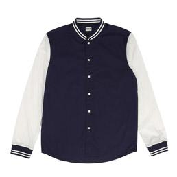 Edwin Baller Shirt - Navy/Off White