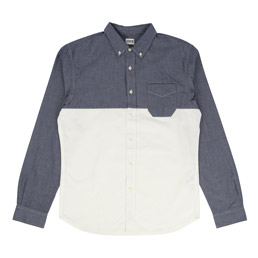 Edwin Classic Slim Shirt - Blue/Off White