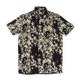 Edwin Nimes Shirt S/S - Black Bamboo Print