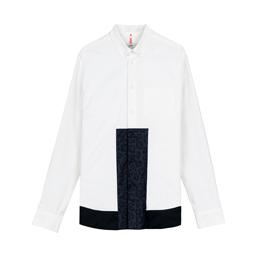 OAMC Panel Shirt White/ Navy