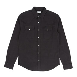 Edwin Memphis Shirt - Black Overdyed