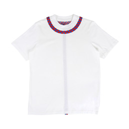 OAMC Embroidered Check Shirt - White/Royal