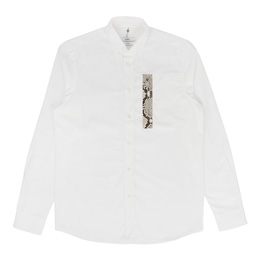 OAMC Snake Patch Shirt White/Grey Snake