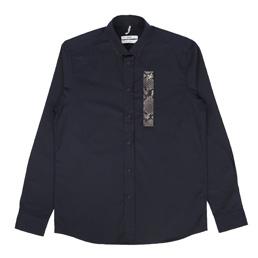 OAMC Snake Patch Shirt Navy/Dark Grey Snake