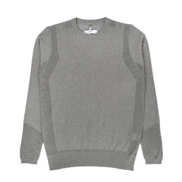 OAMC Mesh L/S Crewneck Heather Grey