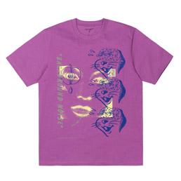 CWIP x Brain Dead SS Noise T-Shirt Purple
