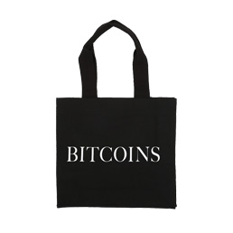 IDEA Bitcoins Canvas Bag Black