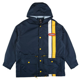 Braindead Hooded Racing Jacket Navy