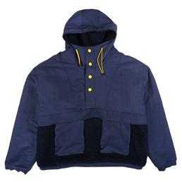 Braindead Pullover Sherpa Anorak Navy