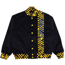 Braindead Corduroy Letterman Jacket Navy