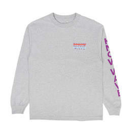 Know Wave LS Heart Logo T-Shirt Grey
