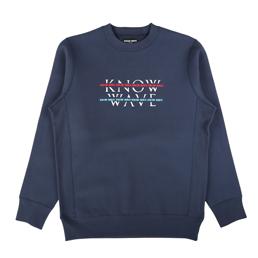Know Wave Over Under Crewneck Navy